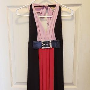 Super cute pale & hot pink maxi dress.